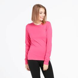 Camiseta Manga Larga UP BASIC Fucsia Mujer