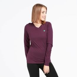 Camiseta Manga Larga UP BASIC Morado Mujer