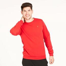 Sudadera Polar UP BASIC Rojo Hombre