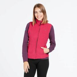 Chaleco Polar UP BASIC Fucsia Mujer