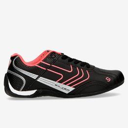 Zapatillas Racing SILVER Negro Mujer