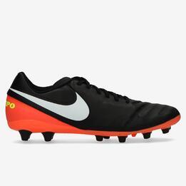 Botas Fútbol Nike Tempo Genio II Negras Hombre