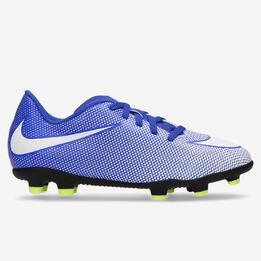 Botas Fútbol Nike Bravata Azules Niño