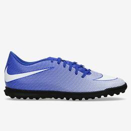 Botas Futbol Multitaco Nike Bravatax II Azules Hombre