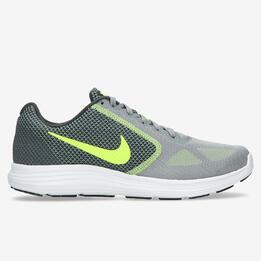 Zapatillas Running Nike Revolution 3 Grises Hombre