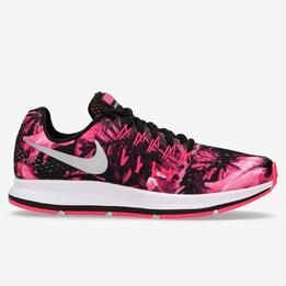Zapatillas Running Nike Air Zoom Pegasus 33 Negras Rosa Niña (36,5-40)