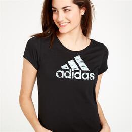ADIDAS Camiseta Negra Mujer