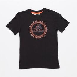 ADIDAS Camiseta Manga Corta Negro Niño (10-16)