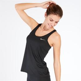 NIKE BREATHE RAPID Camiseta Running Negra Mujer