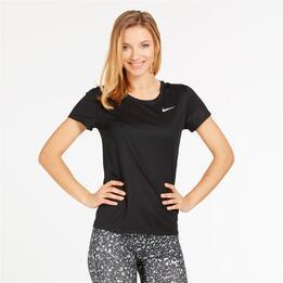 NIKE RAPID Camiseta Running Negro Mujer