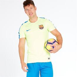 NIKE BARÇA Camiseta Fútbol Verde Lima Hombre