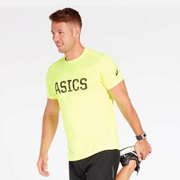 Camiseta Running Asics Amarillo Hombre