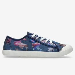Zapatillas Lona Multicolor Denim Mujer Up