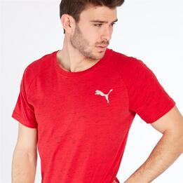 PUMA EVOSTRIPE Camiseta Rojo Hombre