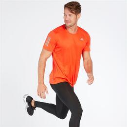 ADIDAS TEE Camiseta Running Naranja Hombre