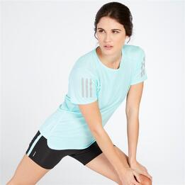 ADIDAS TEE Camiseta Running Azul Mujer