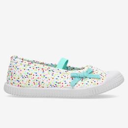 Zapatillas Lona Niña Up Blanco Multicolor