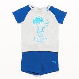 PUMA Conjunto Bebé Azul Gris (12M -36M)