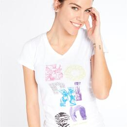 Camiseta Montaña Boriken Blanco Mujer