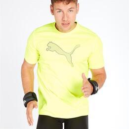 PUMA ESSENTIAL Camiseta Running Amarillo Hombre