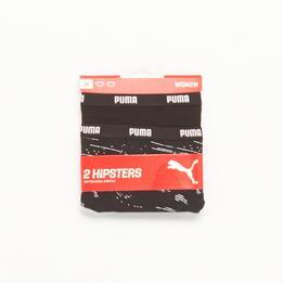 PUMA Pack 2 Braguitas Estampada Negra