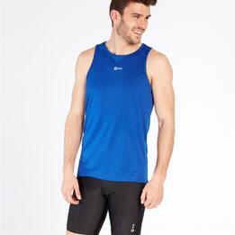 Camiseta Running sin mangas IPSO Azul Hombre