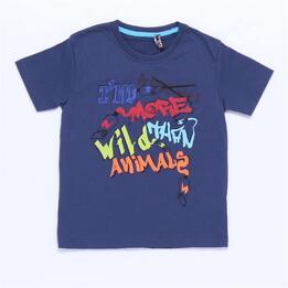 Camiseta Azul Niño Silver Stamps (2-8)