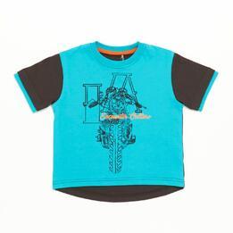 Camiseta Niño Turquesa Silver Culture