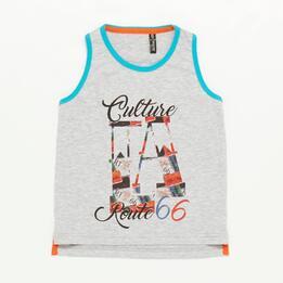 Camiseta Niño Gris Silver Culture