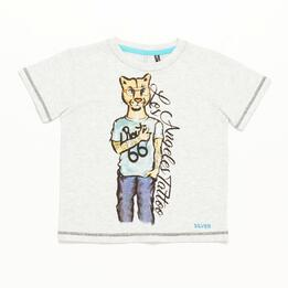 Camiseta Niño Blanco Vigore Silver Culture