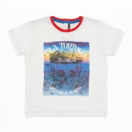 Camiseta Niño Blanco Silver Summer
