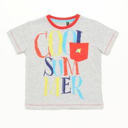 Camiseta Niño Gris Silver Summer