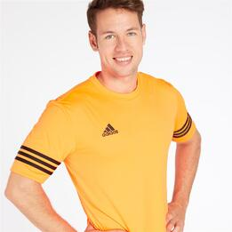 ADIDAS Camiseta Fútbol Naranja Hombre