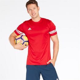 ADIDAS Camiseta Fútbol Rojo Hombre