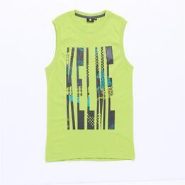 Camiseta Tirantes KELME Verde Niño (10-16)
