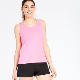 Camiseta Tirantes UP BASIC Fucsia Mujer