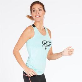 Camiseta Running Tirantes Fila Turquesa Mujer