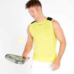 Camiseta Pádel Tenis Sin Mangas Protón Lima Negro Hombre