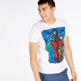 Camiseta SILVER STAMPS Blanco Hombre