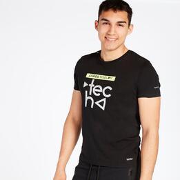 Camiseta SILVER TECH SUMMER Negro Hombre