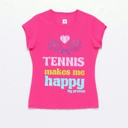 Camiseta Tenis Padel Proton Fucsia Niña (10-16)