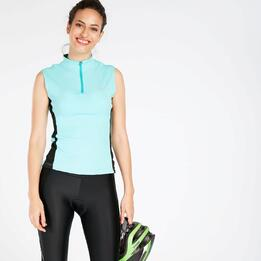 Maillot Ciclismo Turquesa Mujer Mitical Bronce