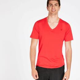 Camiseta Pico UP BASIC Coral Hombre