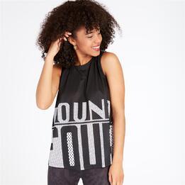 Camiseta Tirantes SILVER ROUND Negro Mujer