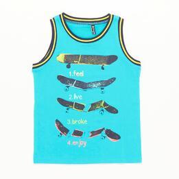 Camiseta Sin Mangas Silver Skate Turquesa Niño (10-16)
