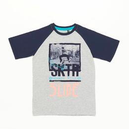 Camiseta Manga Corta Silver Skate Niño (10-16)