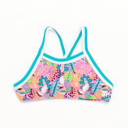 Top Bikini Halter UP STAMPS Hojas Niña (10-16)