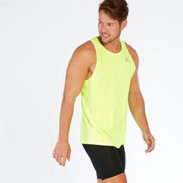 ADIDAS Camiseta Running Sin Mangas Verde Hombre
