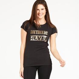 Camiseta UP STAMPS Negro Mujer