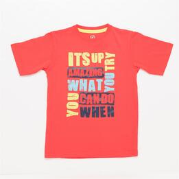 Camiseta UP STAMPS Coral Niño (10-16)